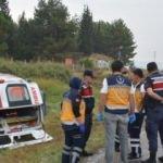 Ambulans şarampole yuvarlandı: Çok sayıda yaralı