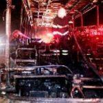 Yolcu otobüsü yandı! Korkunç manzara gün ağarınca ortaya çıktı