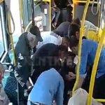 Halk otobüsünde panik anları