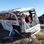 Son dakika haberi: Yolcu otobüsü devrildi! Ölü ve yaralılar var