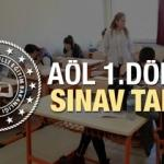 2019 - 2020 AÖL 1.dönem sınav takvimi: Açıköğretim lisesi sınavları...