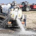 Balıkların öldüğü Oruçlu Göleti'ne tankerle 170 ton su bırakıldı