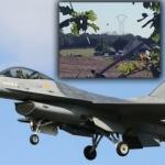 Belçika'ya ait F-16 jeti Fransız kasabasına düştü! İlk görüntüler