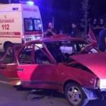 Özel halk otobüsü ile otomobil çarpıştı: 5 yaralı