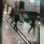 2 kişinin yaralandığı silahlı saldırı kamerada