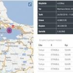 Son Depremler: 24 Eylül İstanbul'da art arda şiddetli deprem meydana geldi