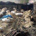 Ahırda yangın çıktı, 17 büyükbaş öldü