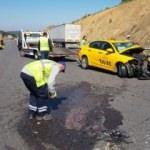 Kuzey Çevre Otoyolu'nda kaza: 3'ü ağır 5 yaralı