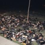 Polis alarma geçti! Yol kenarına atılmış onlarca ayakkabı...