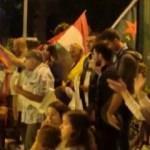 İsrail'de terör örgütü YPG'ye destek gösterisi!