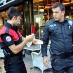 Kimlik kontrolü yapan polise yumruklu saldırı
