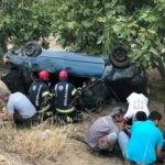 Otomobil şarampole yuvarlandı: Çok sayıda yaralı
