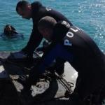 Şüphe üzerine dalış yaptılar: 14 metre derinde gizlenmiş