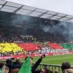 Rezalet! Stadı PKK renkleriyle donattılar