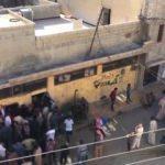 Tel Abyad şehir merkezinde ekmek dağıtımı