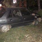 Kontrolden çıkan otomobil ağaca çarptı: 2 yaralı