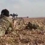 SMO askerleri YPG'li teröristleri böyle vurdu!