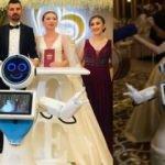 Konyalı robot, nikah şahidi oldu düğünde göbek attı