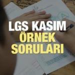 Kasım LGS örnek soruları | Liseye Geçiş Sınavında çıkacak soru ve cevaplar