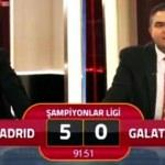 Maç 6-0 olunca GS TV spikerinin o sözleri!