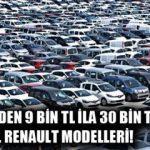 Sahibinden 9 bin ila 30 bin TL arası sahibinden satılık ikinci el Renault araba modelleri!