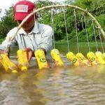 Sıradışı balık avlama taktiği!