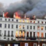 İngiltere'de bir otelde korkutan yangın