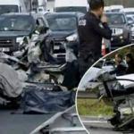 TEM'de feci kaza! Bir araç ortadan ikiye bölündü…
