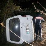 Aracıyla şarampole uçtu, arayan polislere öyle bir cevap verdi ki