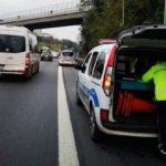 TEM'de kaza! 2 polis yaralandı