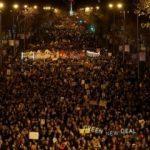 Madrid'de iklim değişikliğine karşı yüz binden fazla kişi yürüdü