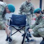 Mehmetçik'ten Kosovalı engellilere tekerlekli sandalye