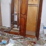 Antalya'da yıldırım düşen ev delik deşik oldu