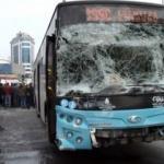 Halk otobüsü kaza yaptı: Yaralılar var!