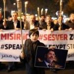 Binlerce kişi meşalelerle yürüdü: Mısır için ses ver!