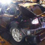 Sprey sıktıktan sonra sigara yaktı, araç alev aldı