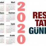 2020 Resmi tatil günleri: 1 Ocak Yılbaşı tatili, Ramazan ve Kurban bayramı ne zaman?
