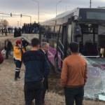 Kaza yapan otobüs tarlaya savruldu: Çok sayıda yaralı var