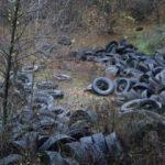 Tepki çeken görüntü: Ormanı lastik çöplüğüne çevirdiler
