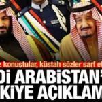 Suudi Arabistan'dan hadsiz Türkiye açıklaması! Erdoğan'dan flaş cevap