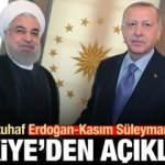 İran'dan tuhaf Erdoğan-Kasım Süleymani iddiası! Türkiye'den açıklama