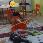 Skandal görüntü! Anaokulunda çocukları sandalyeye bağladılar
