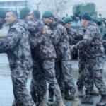 Barış Pınarı Harekatı'ndan dönen Polis Özel Harekata mehterli karşılama