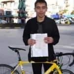 Bisikletli genç, kesilen cezayı görünce neye uğradığını şaşırdı