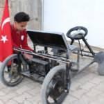 Gören inanamıyor! 14 yaşında kendi elektrikli aracını yaptı