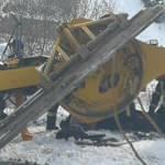 Karla mücadele çalışmasında feci kaza!