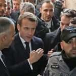 Macron, işgal altındaki Kudüs'te İsrail polisiyle tartıştı