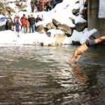 Rize'nin 1100 metre rakımlı yaylasında ocak ayında yüzme şenliği yapıldı