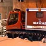 Bitlis'teki hastaların yardımına paletli ambulanslar yetişiyor