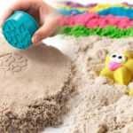 Çocuklar için kinetik kum yapımı! Evde pratik (ay kumu) kinetik kum nasıl yapılır?